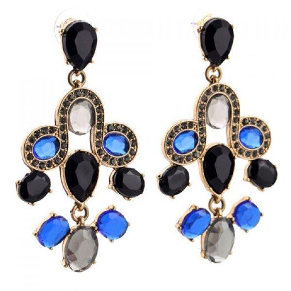 3.83$  Buy now - http://diz0w.justgood.pw/go.php?t=123951302 - Pair of Teardrop Rhinestone Drop Earrings 3.83$
