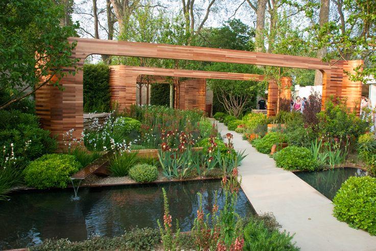 Sponsored by Homebase, the Teenage Cancer Trust garden, designed by Joe Swift at Chelsea Flower Show 2012