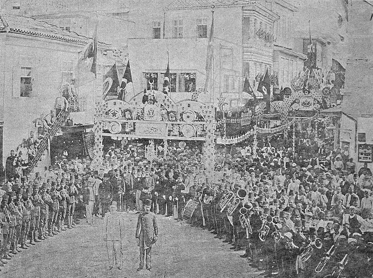 https://flic.kr/p/C1AacY | [Ottoman Empire] Anniversary Fete of Sultan Abdulhamid II's Accession to the Throne in Chania, Crete Island, 1890s