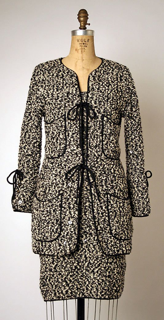 Suit, House of Chanel, Designer Karl Lagerfeld, 1993-97, French, wool