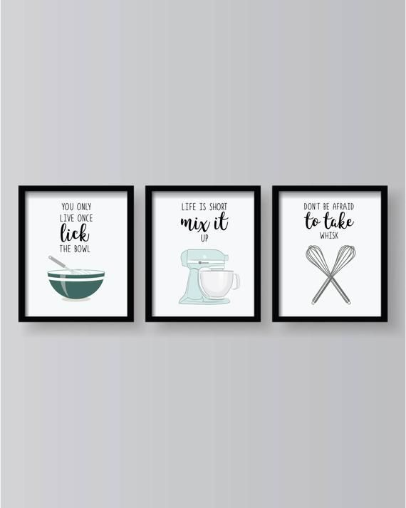 Teal Gray Kitchen Quotes Prints Kitchen Decor Kitchen Wall Etsy In 2021 Quote Prints Kitchen Wall Art Kitchen Artwork