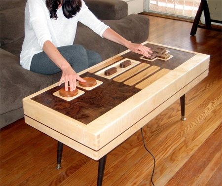 gaming:  Carpenter Planes, Games Rooms, Coffee Tables, Nintendo Control, Control Coffee, Functional Nintendo, Coff Tables,  Woodworking Planes, Tions Control