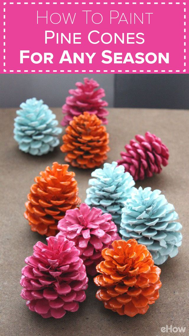 Paint pine cones any color for any season! It's no longer reserved for winter decor, you can use pine cones to spruce up your home decor and style any season! Get the how-to here: http://www.ehow.com/how_7704016_paint-pine-cone.html?utm_source=pinterest.com&utm_medium=referral&utm_content=freestyle&utm_campaign=fanpage