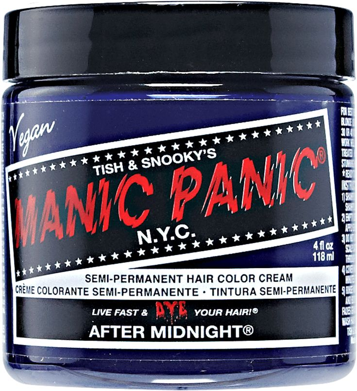 Manic Panic Semi-Permanent Hair Color Cream features not only a classic cream formula, but a vegan formula that colors and conditions hair.