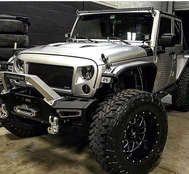 ➰ THIS IS THE BEST OF ALL BAD ASS JEEPS! LOOK AT THAT FRONT END, Unique Hooks, EVEN THE FENDERS ARE UNIQUE- Great Bumper, Hood Vents, Wheels- LED LIGHTS LIFT, GRILL, THIS IS MY FAVORITE of All 4,000 Jeeps I have posted! ➰