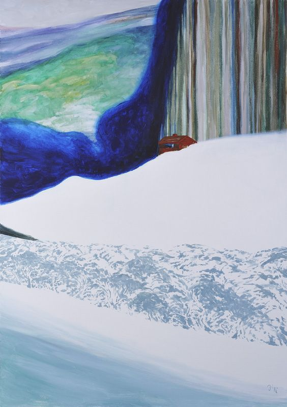 Jiří Hauschka: There Is Snow for a Long Time in the Valley, 2013, acrylic on canvas, 100 x 70 cm