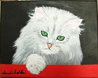 Original Cat Oil Painting on Canvas by Artist Sandra Walker | eBay