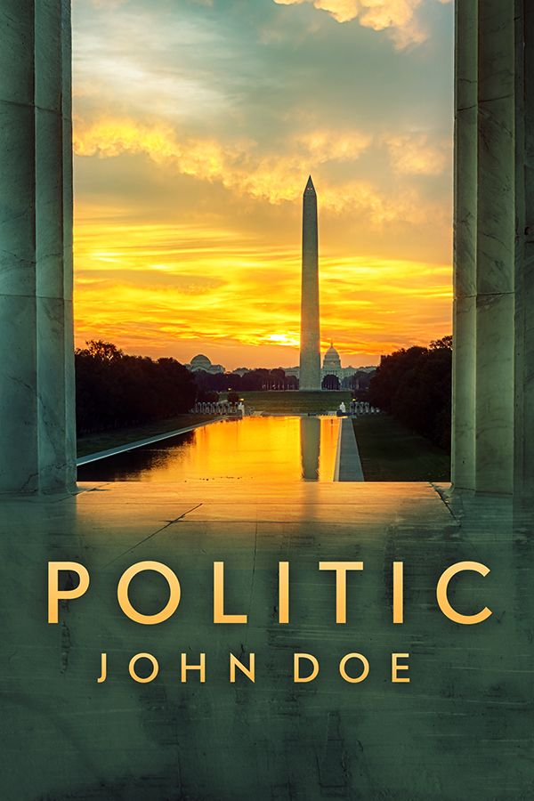Premade Book Cover Design for sale. Perfect for Political Thriller book. Costs $60 and is only sold to one author. Available at www.RockingBookCovers.com/premade-covers