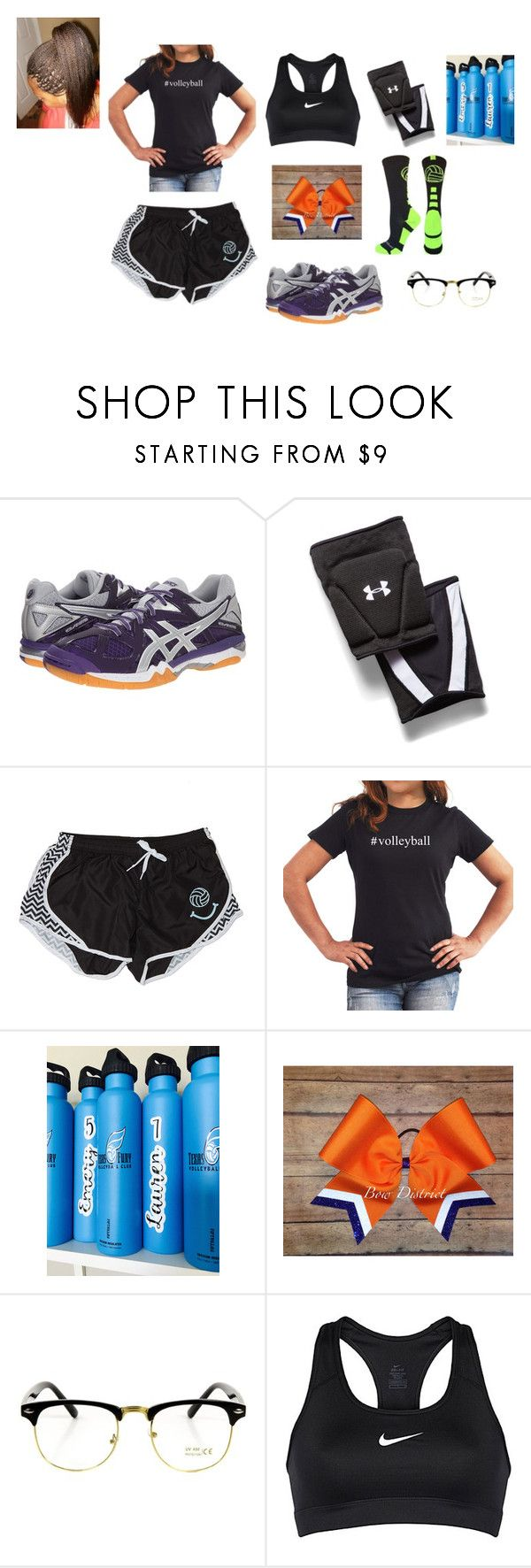 """""""Soon to be Volleyball player"""" by bipolarpanda on Polyvore featuring Asics, Under Armour and NIKE"""