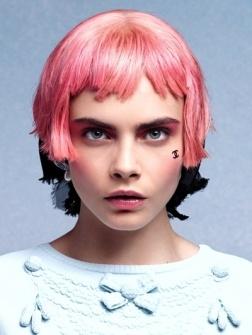 Gespot: gezichtsstickers van Chanel, tijdens de Chanel Cruise Collectie 2013-show, afgelopen maandag in de ...