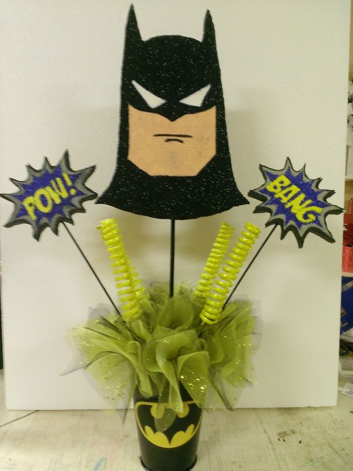 Batman Centerpiece  Birthday Party Baby Shower