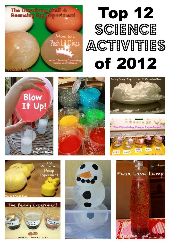Top 12 Science Experiments and Explorations of 2012 on Mom to 2 Posh Lil Divas