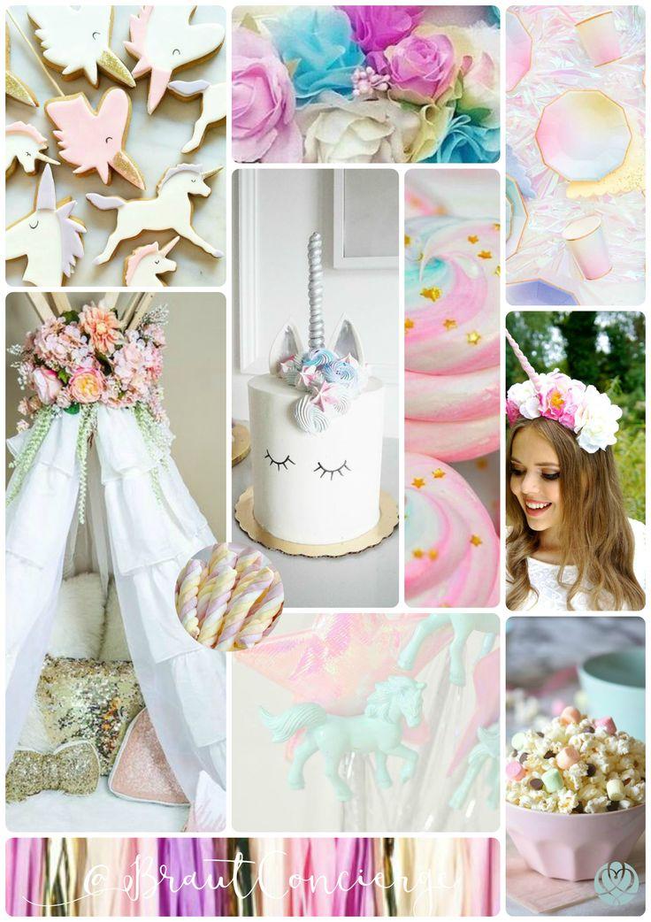 Unicorn Bridal Shower MoodBoard I Braut Concierge - Hochzeitsplaner Berlin