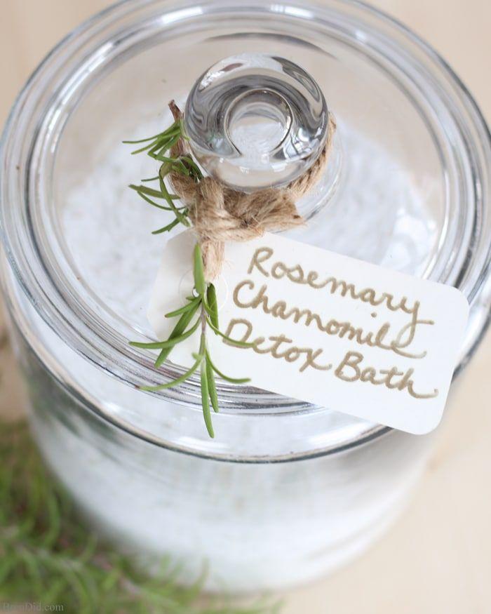 Rosemary Chamomile Detox Bath