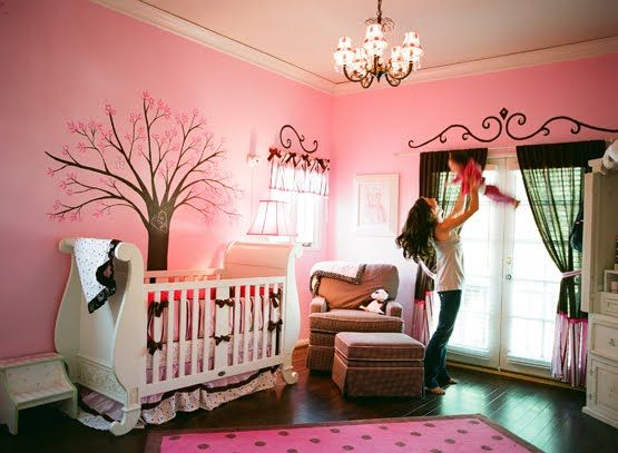 302 best Pink and Brown rooms images on Pinterest | Child room, Baby ...