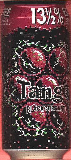 TANGO-Blackcurrant soda-375mL-13 1/2 % EXTRA FREE-Great Britain