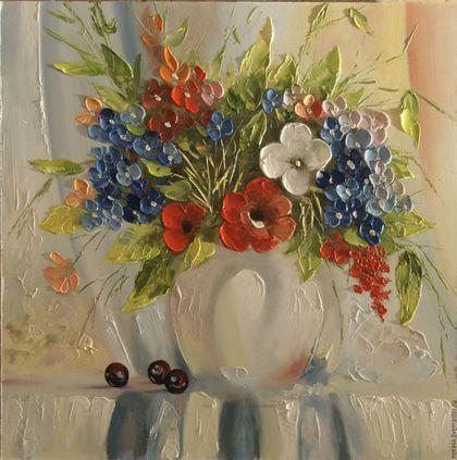 Картины цветов ручной работы. Ярмарка Мастеров - ручная работа. Купить аромат леса. Handmade. Комбинированный, картина в подарок