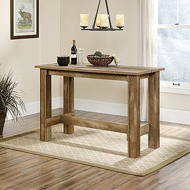 Counter-Height Dinette Table - Boone Mountain Complete a smaller dining space with this counter-height table that seats four people.