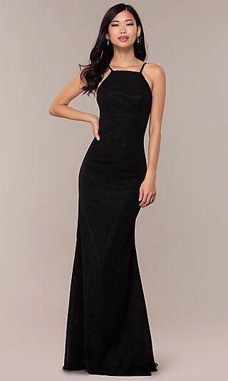 a3e0e6b783fb JVNX by Jovani Long Black Glitter-Knit Prom Dress in 2019 | Prom ...