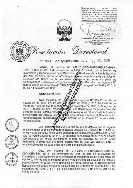 XVI PROMOCIÓN DE OFICIALES DEL INSTITUTO DE ALTOS ESTUDIOS POLICIALES: RESOLUCIÓN DE NIVELACIÓN DE PAGO DE INCREMENTO DEL...