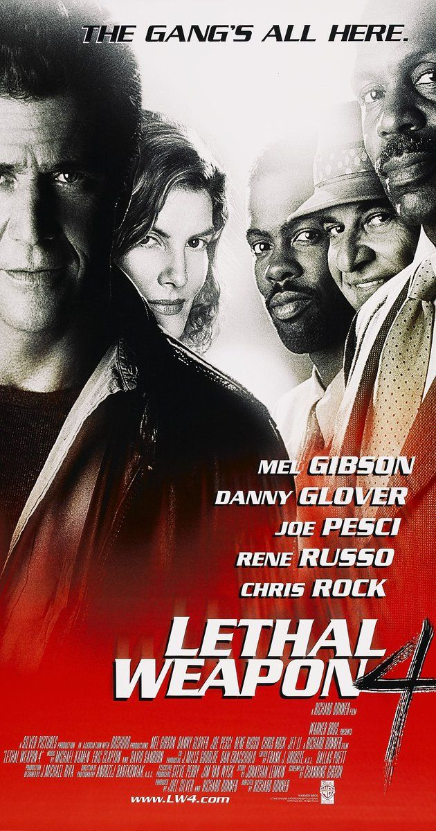 Lethal Weapon 4 (1998)  --   With personal crises and age weighing in on them, LAPD officers Riggs and Murtaugh must contend with a deadly Chinese crimelord trying to get his brother out of prison.