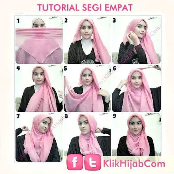 hijab tutorial segi empat easy - Google Search
