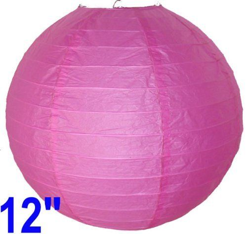 """Fuchsia Pink Chinese/Japanese Paper Lantern/Lamp 12"""" Diameter - Just Artifacts Brand by Just Artifacts. $2.50. Great for party and home decoration. Check Just Artifacts products for more available colors/sizes."""