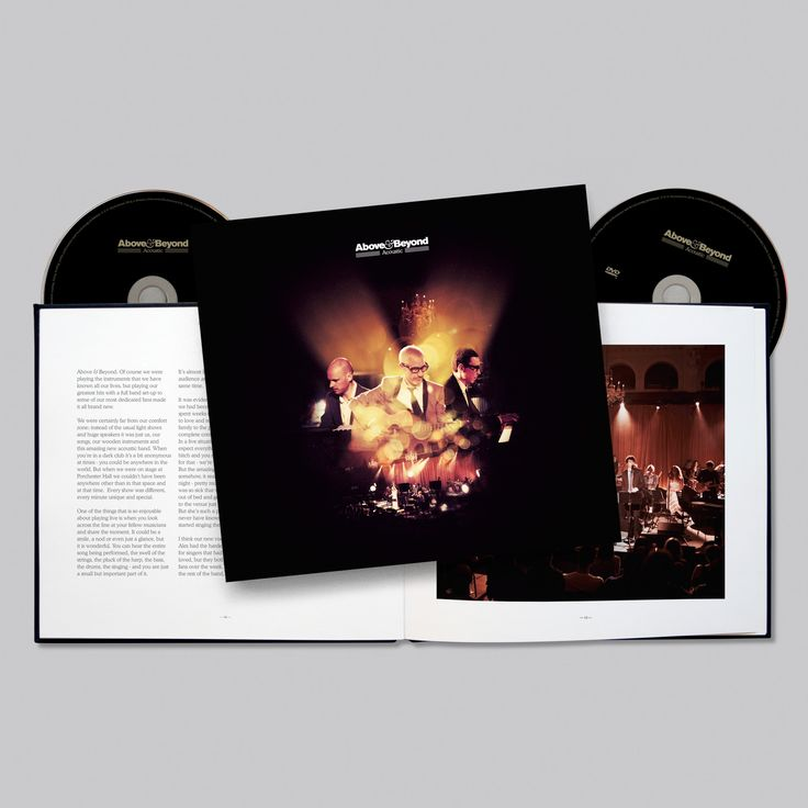 A beautifully presented photographic journal of Above & Beyond's 2013 acoustic performances at London's Porchester Hall and the LA Greek Theatre. Above & Beyond Live at Porchester Hall concert film on DVD and the Above & Beyond Acoustic studio album on CD.