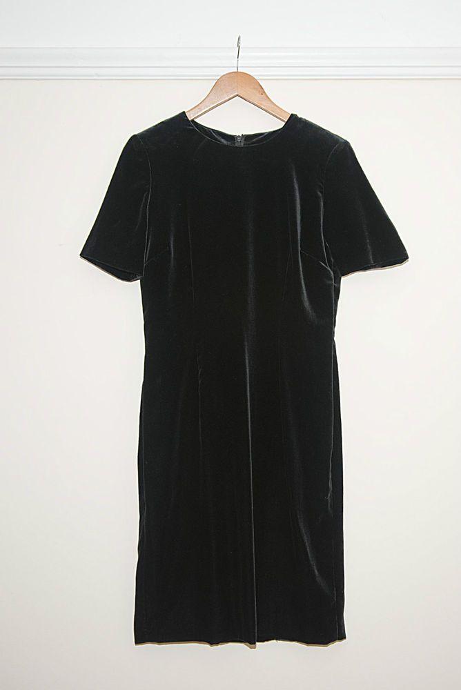Vintage Jaeger Evening/ Cocktail Black Velvet Dress UK 10 - Designer - Stunning