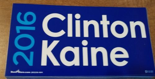 Hillary Clinton: Hillary Clinton Tim Kaine Bumper Sticker 2016 President 2016 Usa Union Made -> BUY IT NOW ONLY: $3.99 on eBay!