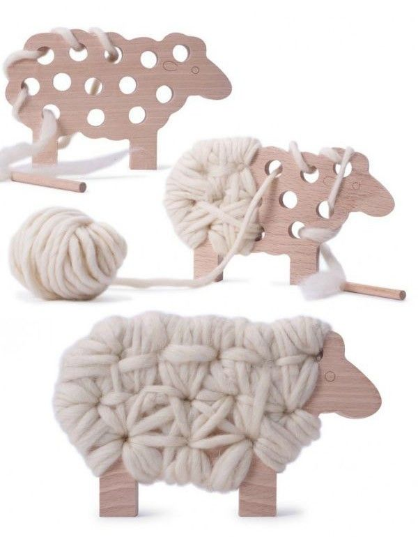 #woodworkingplans #woodworking #woodworkingprojects Woody The Sheep Knitting Toy | The Junior