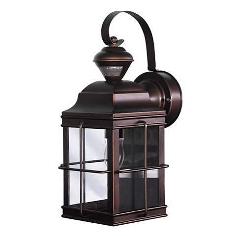 Carriage Bronze 14 3 4 Quot High Motion Sensor Outdoor Light