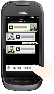 WhatsApp Messenger introduces Voice Messages for Java / S40 / Nokia Asha phones.