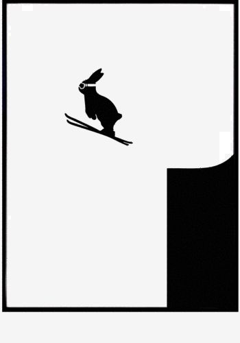 Ski Jumping Rabbit print  from www.bodieandfou.com  No comment required  :O)