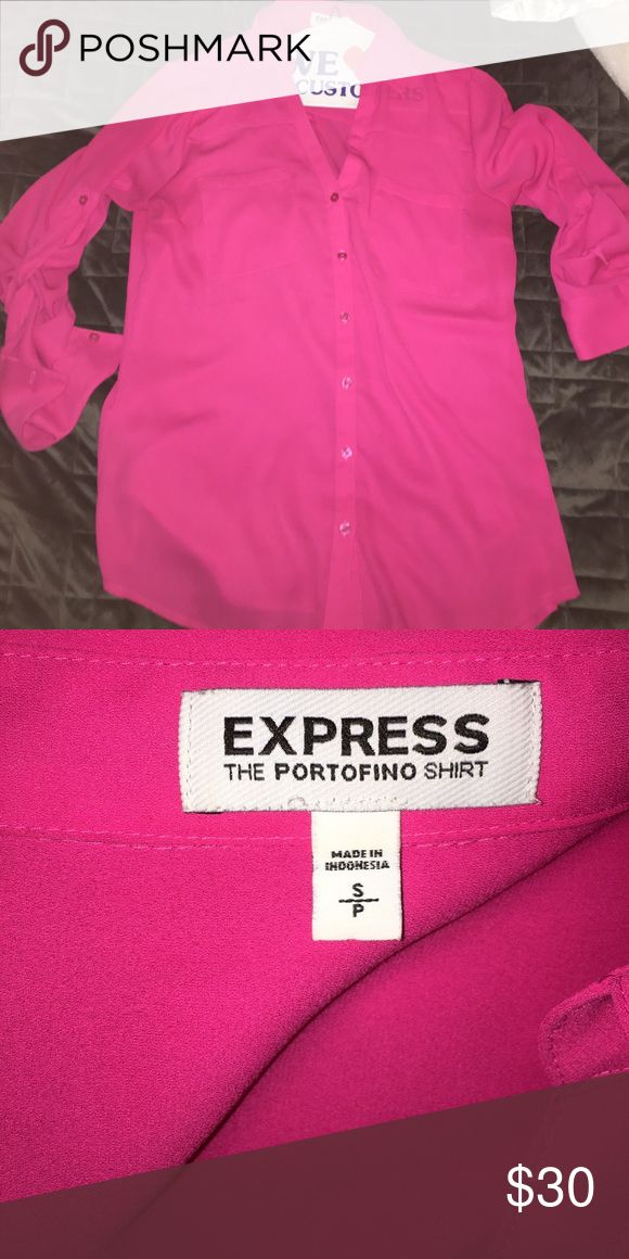 Worn once blouse This is the portofino shirt from express. Great for a business meeting or just a cute outfit with shorts, skirts, or pants. Express Tops Blouses