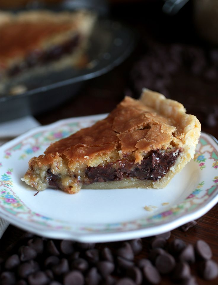 Chocolate Chip Cookie Pie  @themerrythought