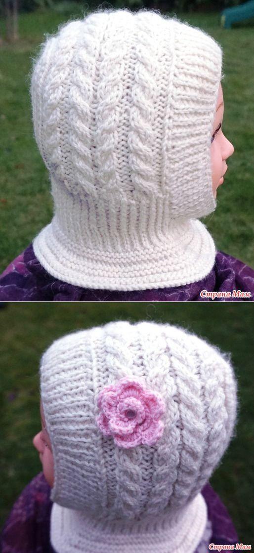 Шапочка-шлем для девочки - Вязание - Страна Мам