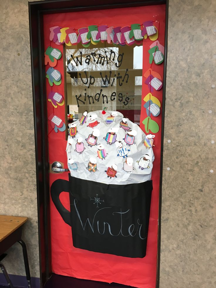 Warming up with kindness classroom door