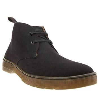 Dr Martens Black Mayport 2 Eye Desert Mens Boots Dr Martens strip back their classic aesthetic, to create the lightweight Mayport 2 Eye Desert Boot. Arriving in black twill canvas