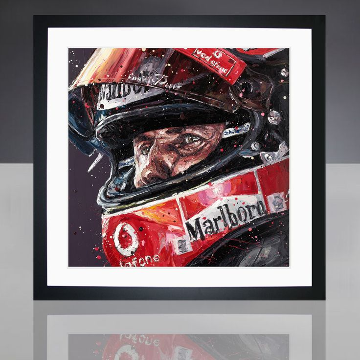 Paul Oz is the buzz word in Formula One art; widely acclaimed for his explosive and energetic artworks and well-respected for his genuine passion for the sport.  We are proud to present to you this very limited edition, hand embellished Paul Oz print, which Paul has recently painted as a tribute to Michael Schumacher. Paul captures Schumacher at the peak of his F1 career; wearing his striking red helmet with the Ferrari F1 team.  Available as part of a strictly limited edition of just 3...