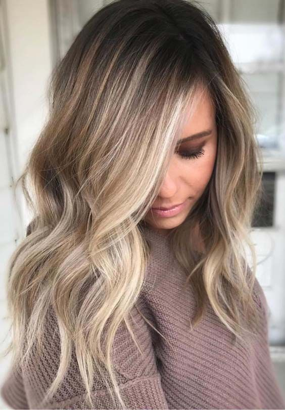 The Balayage highlights should be very close and soft at the root leading to a thicker highlight 2018 at the ends of the hairs for various hair lengths. See here the most charming and cute ideas of balayage hair colors to make you look more cute, sexy and adorable nowadays. #braidhair