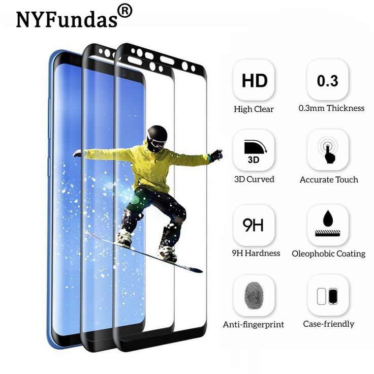 Find More Screen Protectors Information about NYFundas 3D Curved Tempered Glass For Samsung Galaxy S8 Plus Full Coverage Screen Protector Verre Trempe For Samsung S8 Plus,High Quality glass for samsung,China tempered glass Suppliers, Cheap tempered glass for samsung from Neuss Store on Aliexpress.com