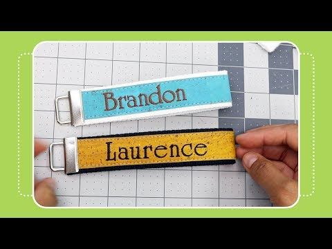How to Make a Key Fob- Cork Embroidery Tutorial by The Crafty Gemini
