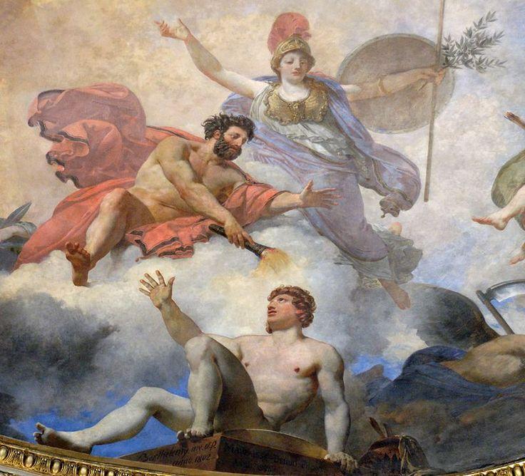 Creation of man Prometheus Berthelemy Louvre