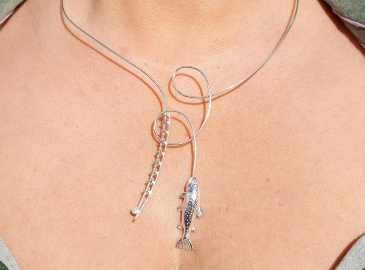 fly fishing necklace/-Tight Line Jewelry