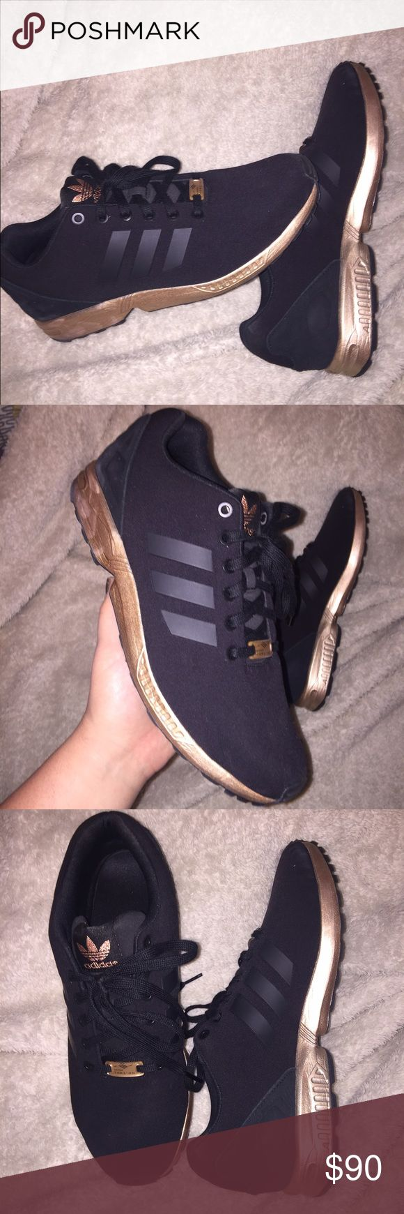 ADIDAS TORSION ROSE GOLD AND BLACK BEAUTIFUL ROSE GOLD AND BLACK ADIDAS. SOLD OUT EVERYWHERE!! Never worn out of the house. Mint condition. Size 11 Adidas Shoes Athletic Shoes
