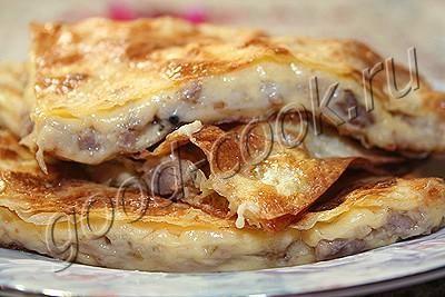 Хорошая кухня - конверты из лаваша с мясом и сыром. Кулинарная книга рецептов. Салаты, выпечка.