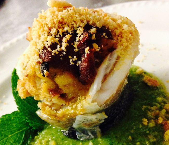Turbante di spigola con panzanella di mare | Food Loft - Il sito web ufficiale di Simone Rugiati