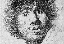 zelfportret rembrandt arceren