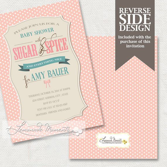 63 best sugar and spice baby shower images on pinterest | girl, Baby shower invitations